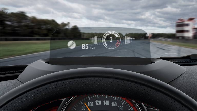 MINI John Cooper Works – interior – head-up display